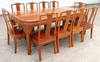 Extending Dining Table & Ten Matching Dining Chairs